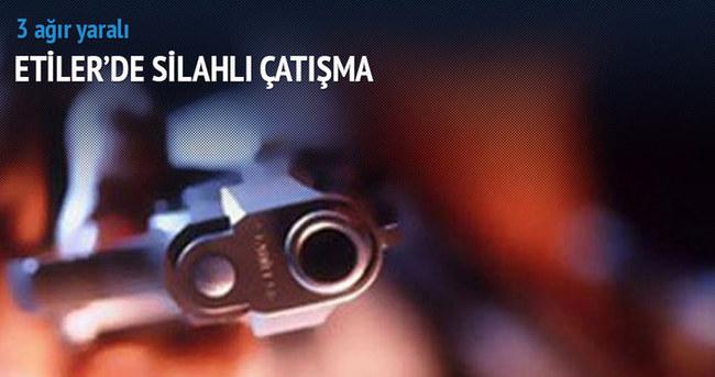 Etiler'de silahlı çatışma: 3 ağır yaralı!