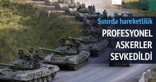 Profesyonel askerler Suriye sınırında