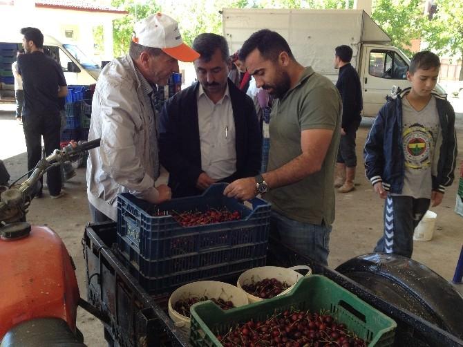 Başkan Erdoğan'dan Meyve Alım Merkezine Ziyaret