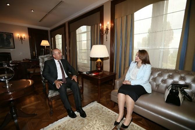 Dışişleri Bakanı Çavuşoğlu; Nezaket Emine Atasoy'u Kabul Etti