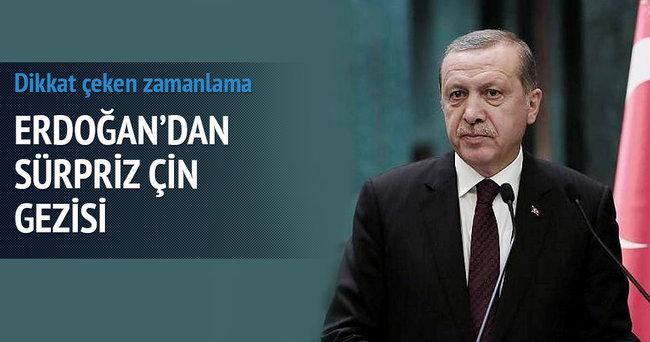 Erdoğan'dan sürpriz Çin gezisi