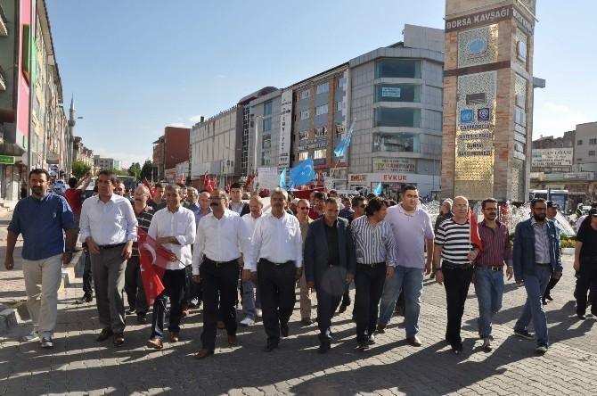 Nevşehir'de Doğu Türkistan İçin Protesto Yürüyüşü