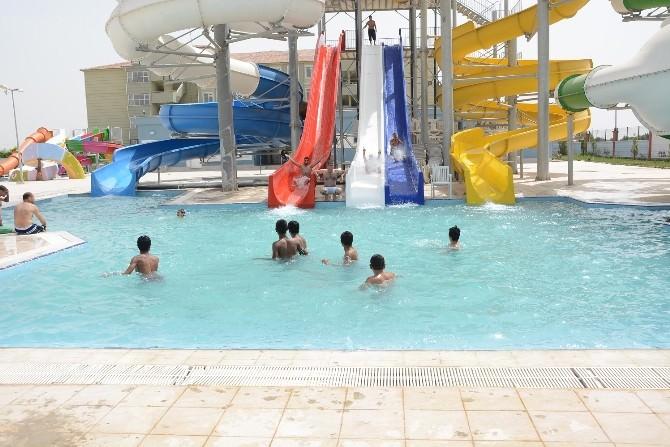 Sıcaktan Bunalanlar Yüzme Havuzlarına Akın Ediyor