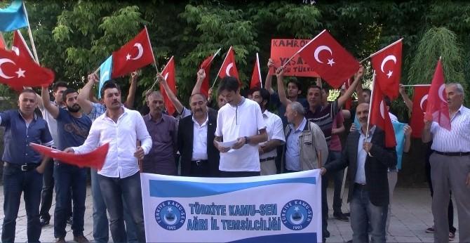 Ağrı'da Doğu Türkistan Halkına Yapılan Zulümler Kınandı