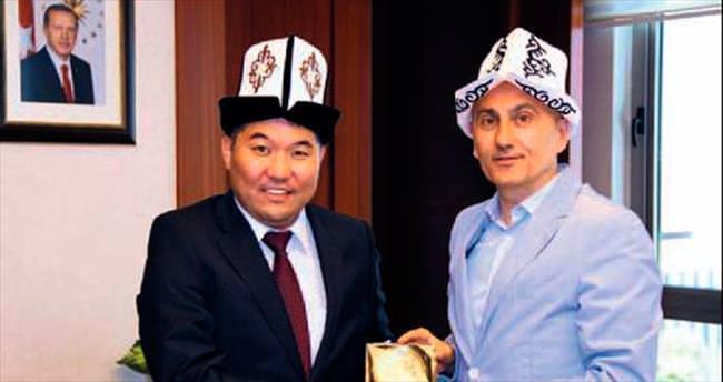 Hasan Kalyoncu'nun Kırgızistanlı konukları