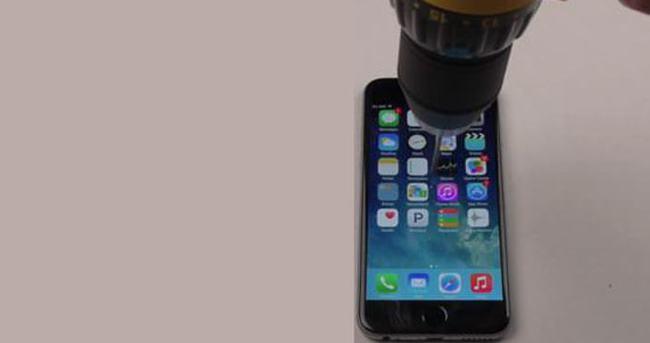 iPhone'a matkap darbesi
