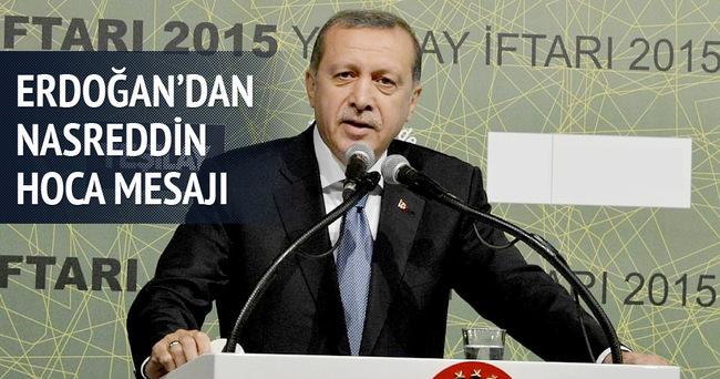 Erdoğan'dan Nasreddin Hoca mesajı