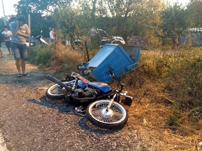 Datça'da Feci Kaza, 18 Yaşındaki Motosikletlinin Bacağı Koptu