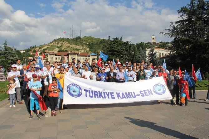 Kamu-sen Üyeleri, Doğu Türkistan'daki Çin Zulmünü Protesto Etti