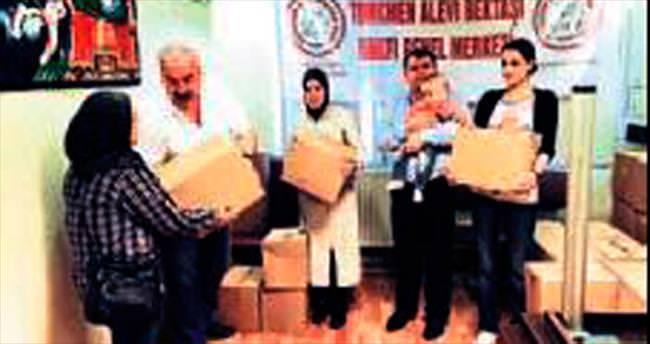 Muhtaç ailelere ramazan yardımı