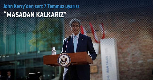 John Kerry'den İran'a 7 Temmuz uyarısı