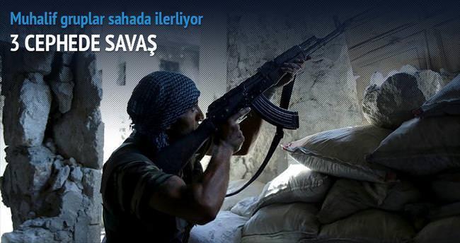 Suriye'de 3 cephede savaş