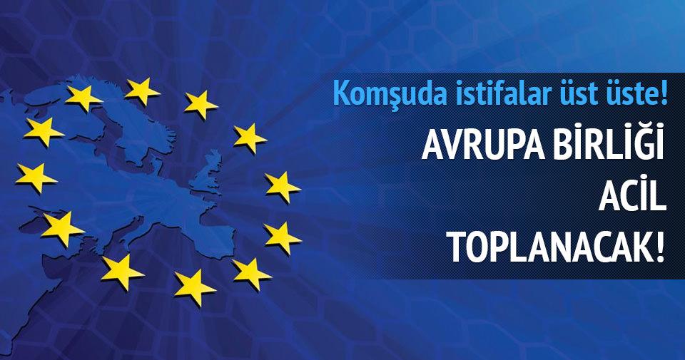 Yunanistan'da sürpriz istifa