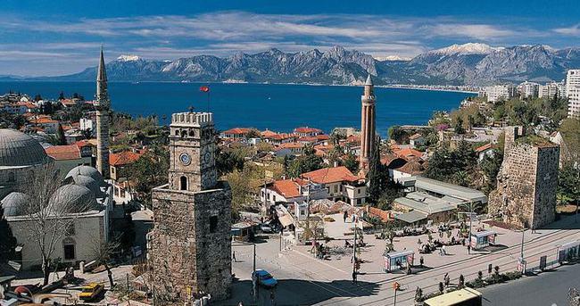 Antalya'ya gelen yabancı turist sayısı