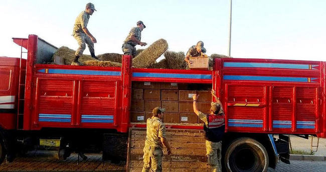 Bozuk kamyonda 10 bin fünye ele geçirildi