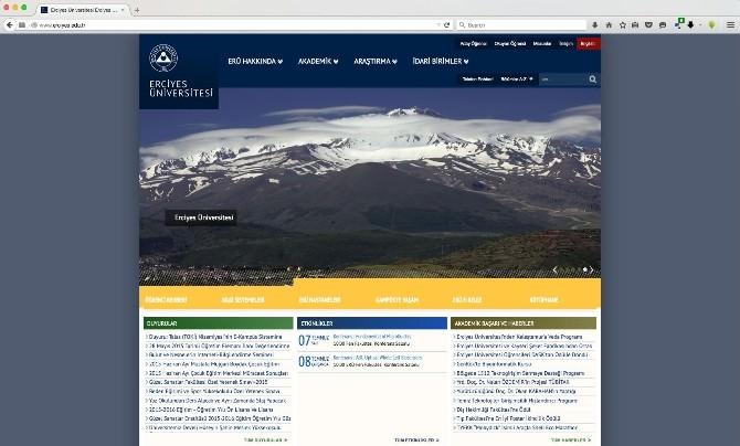 Erciyes Üniversitesi Web Sayfasını Yeniledi