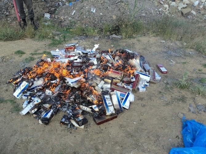 Kulu'da Kaçak Sigara Ve Esrar Ele Geçirildi