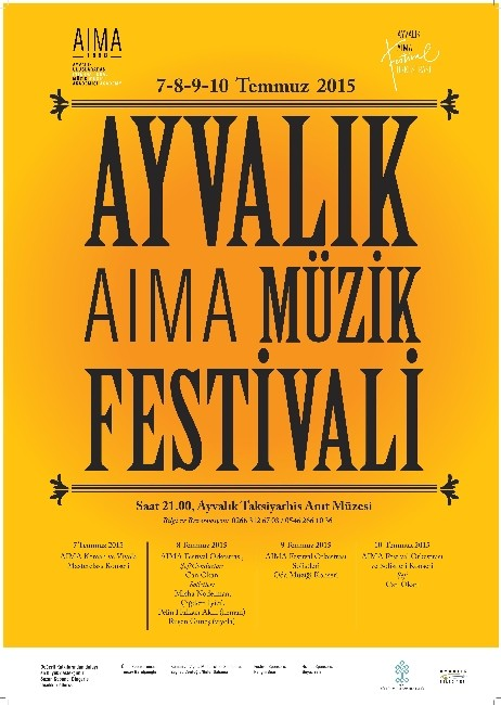 Ayvalık Aıma Müzik Festivali 8-9-10 Temmuz'da Başlıyor