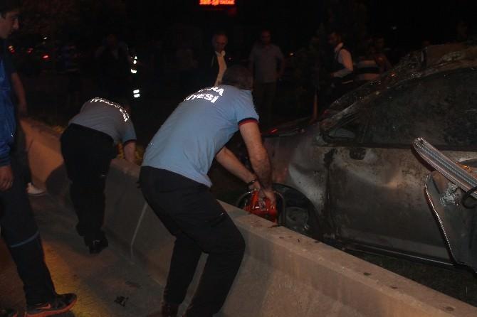 Başkent'te İftar Dönüşü Feci Kaza