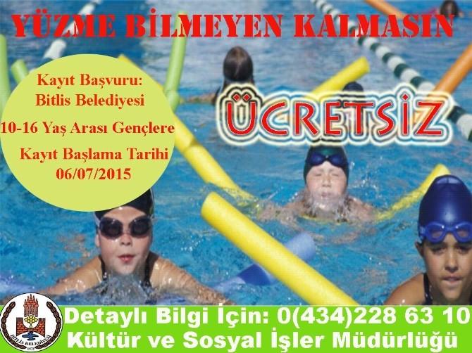 Bitlis Belediyesinden Çocuklara Yüzme Kursu