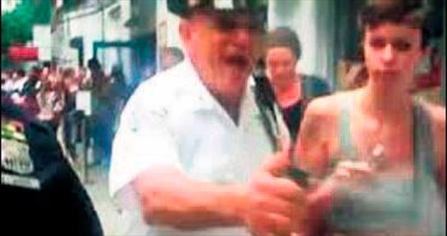 Polise biber gazı cezası