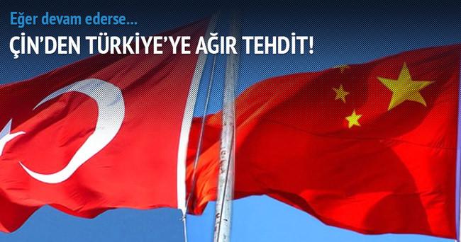 Çin'den Türkiye'ye ağır tehdit