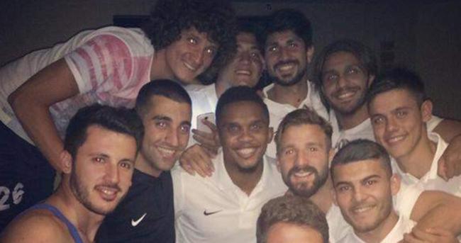 Antalyasporlu futbolcularda Eto'o sevinci