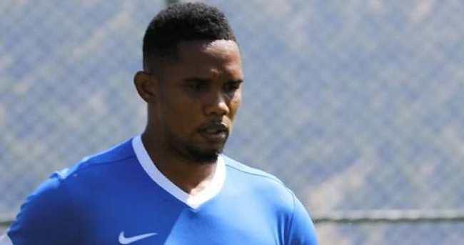 Eto'o, Antalyaspor'da ilk antrenmanına çıktı
