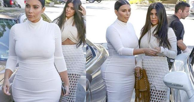 Kim Kardashian ikinci bebeğini gösterdi