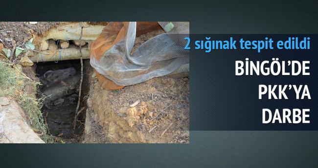 Bingöl'de terör örgütünün sığınakları imha edildi