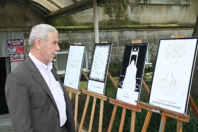 Cami Bahçesinde Çizim Sergisi