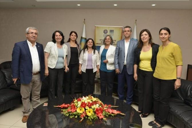 HDP Milletvekillerinden Diyarbakır Büyükşehir Belediyesi'ne 'UNESCO' Ziyareti