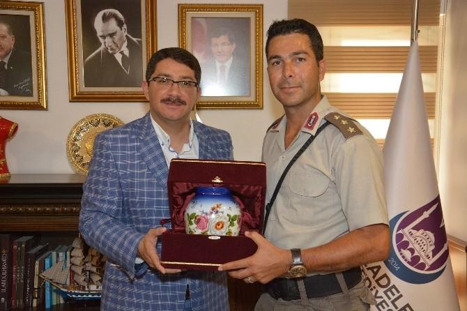 Yüzbaşı Şimşek'ten Başkan Çelik'e Veda Ziyareti
