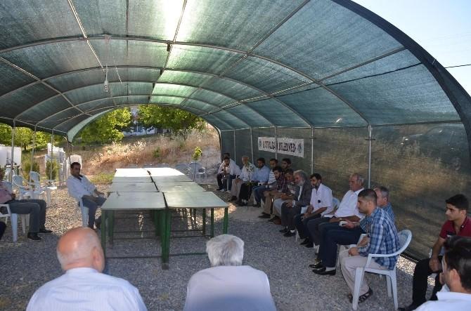 Suriye'de Öldürülen Malatyalı İçin Taziye Çadırı Kuruldu