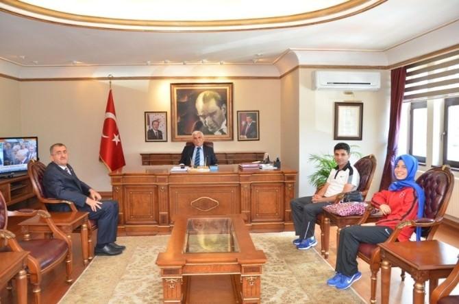 Dereceye Giren Aslan'dan Val Alimoğlu'na Ziyaret
