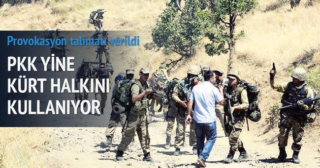 PKK'dan Uludere'de provokasyon talimatı