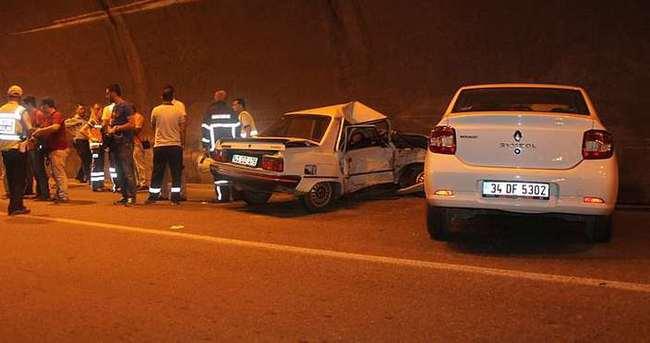 Tünelde feci kaza: 1 ölü, 2 yaralı