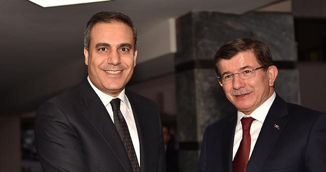 Davutoğlu, MİT Müsteşarı Fidan'ı kabul etti