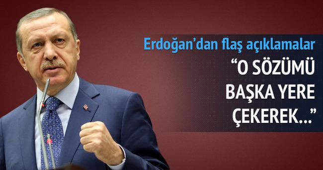 Cumhurbaşkanı Erdoğan: O sözümü başka yere çekerek...