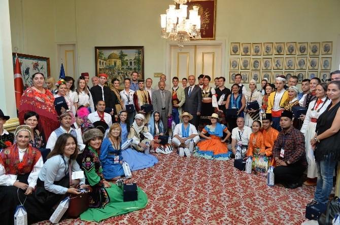 Yabancı Dansçılardan Başkan Altepe'ye Ziyaret