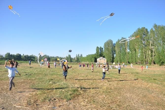 (Özel Haber) - Muş'ta Çocuklar Toy Ve Telli Turnalar İçin Uçurtma Uçurdu