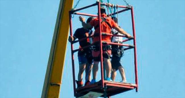 Çeşme'de bungee jumping heyecanı