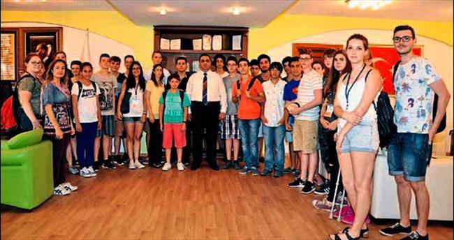 Başkan Şevket Can Alman gençleri ağırladı