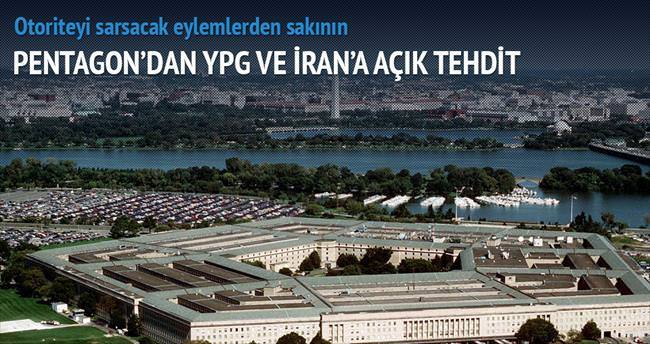 Pentagon'dan YPG ve İran'a çağrı