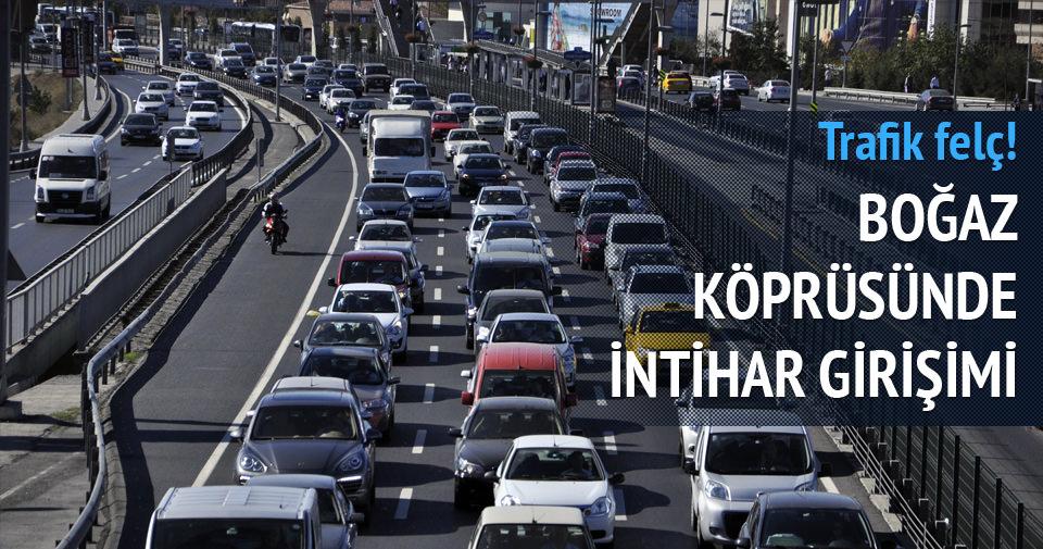 İntihar girişimi trafiği kilitledi