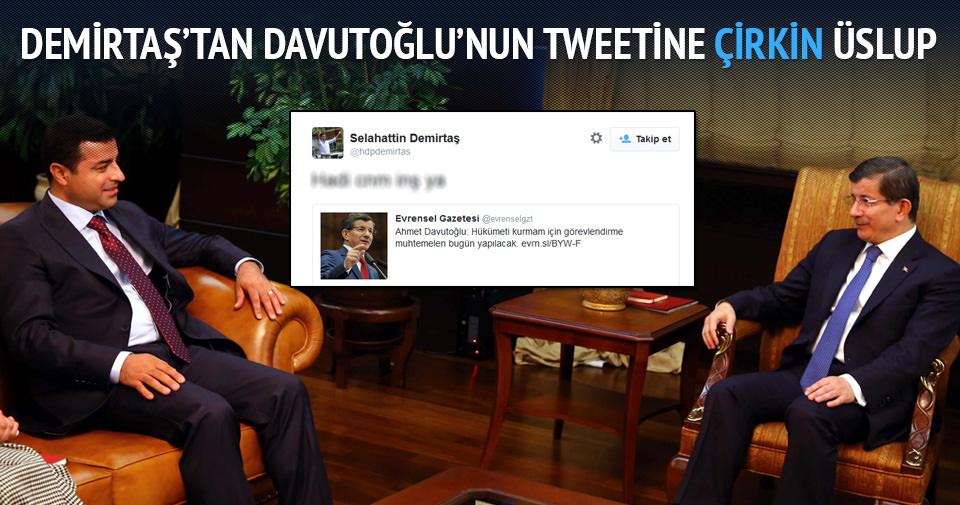 Demirtaş'tan tepki çeken tweet