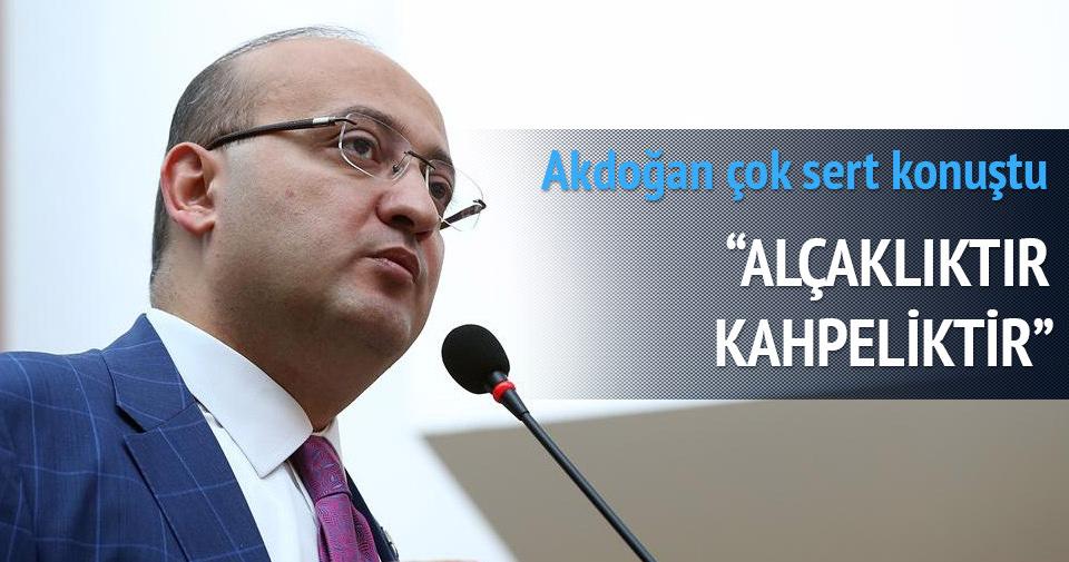Akdoğan'dan sert tepki: Alçaklıktır, kahpeliktir