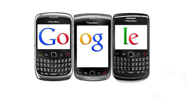 Google ve Blackberry el ele verdi