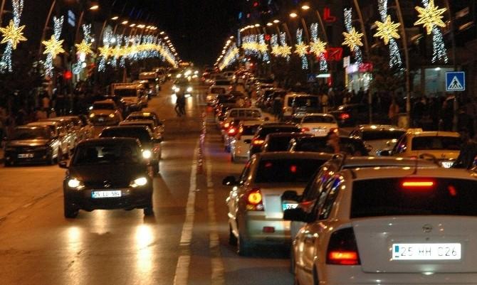 Erzurum'da Araç Sayısı 104 Bin 735'e Yükseldi