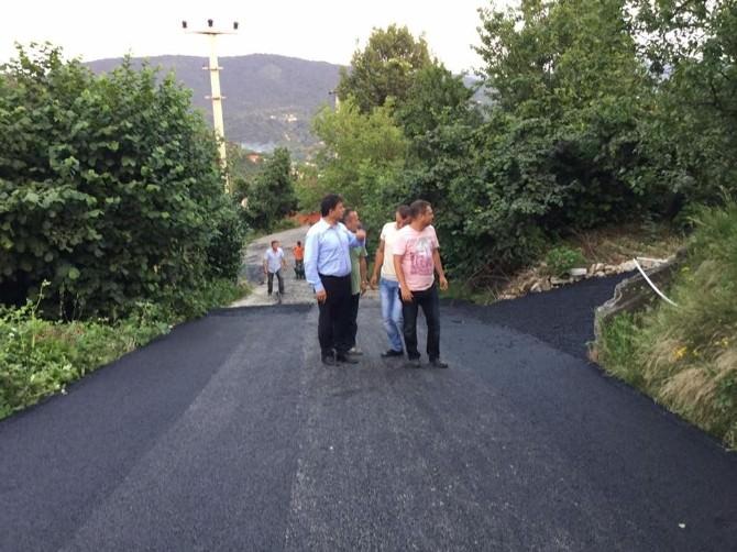 Kozlu'da Kaplama Çalışmaları Devam Ediyor